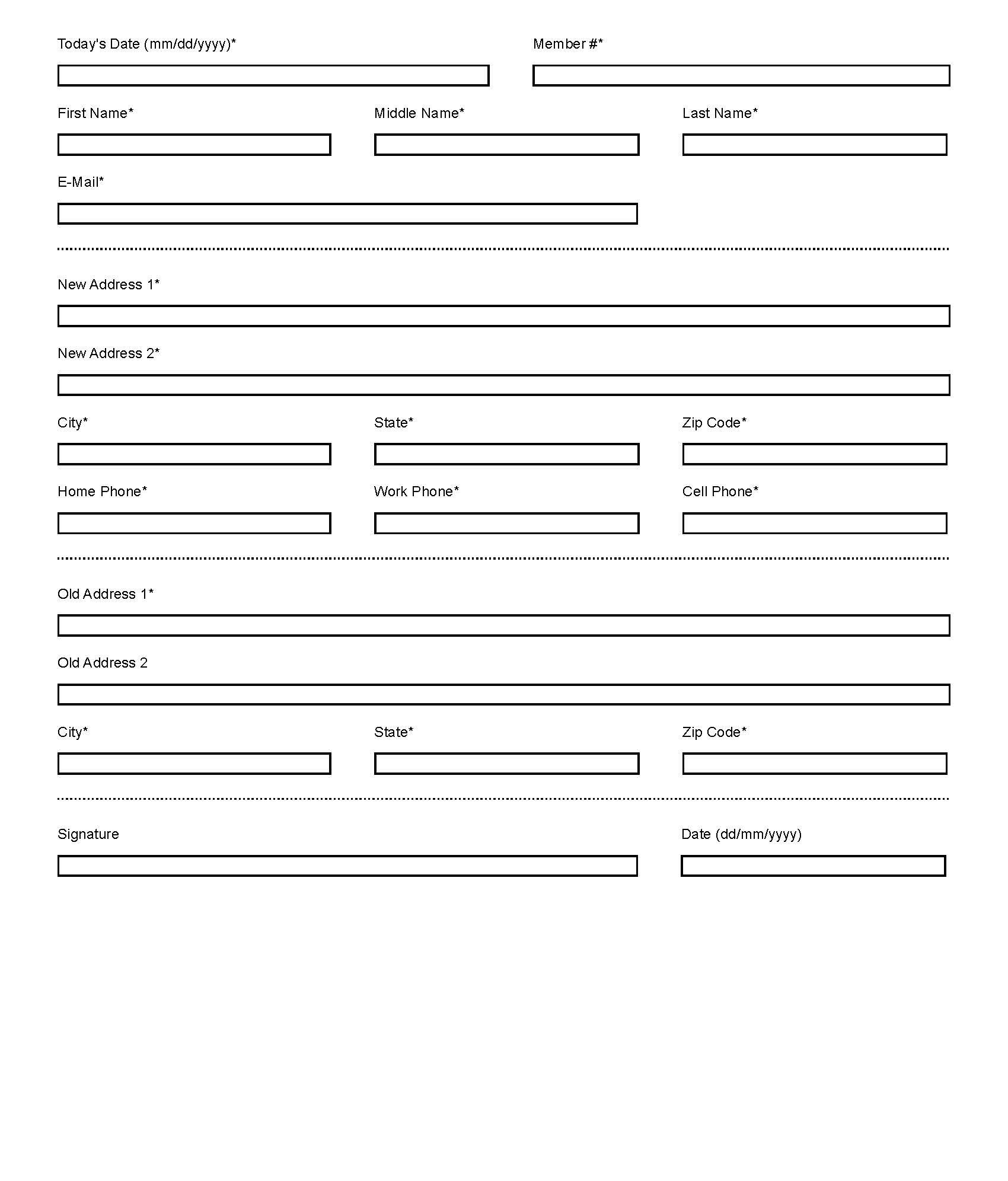 Lowland Credit Union | Change of Address Form | Morristown ...