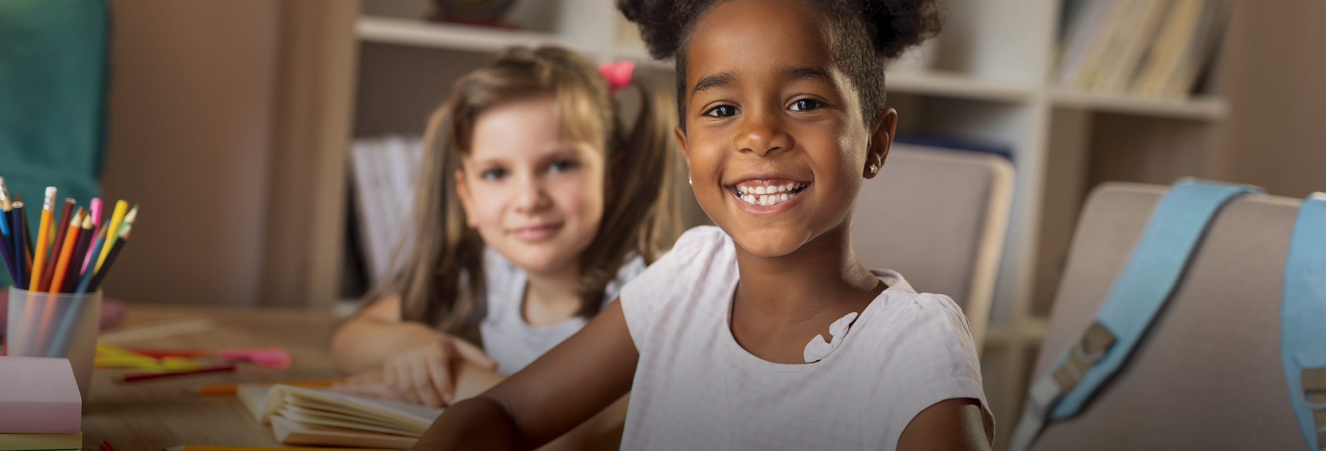 Smiling kids at school