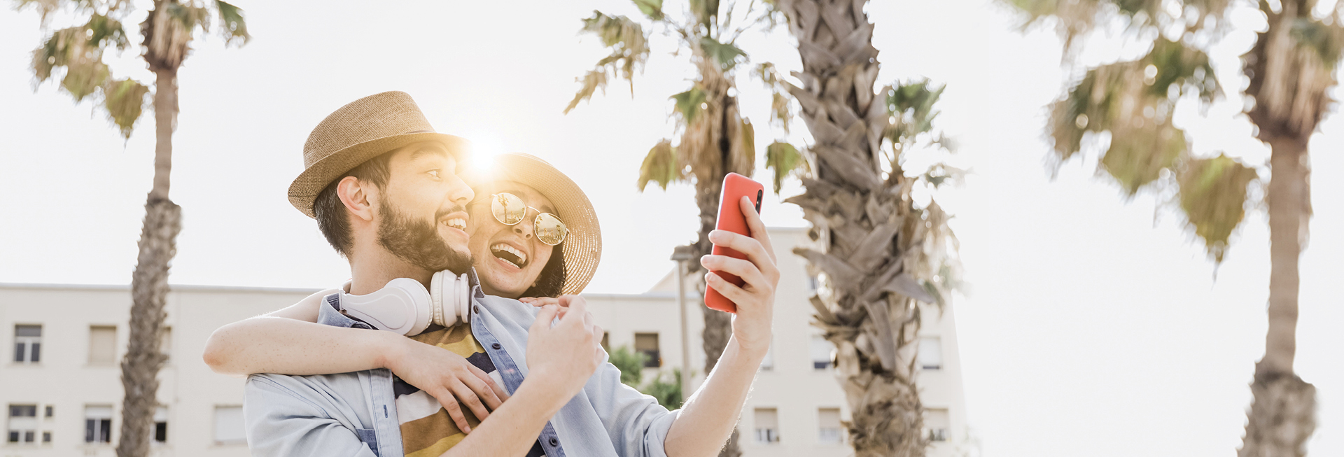 Guy and girl looking at phone